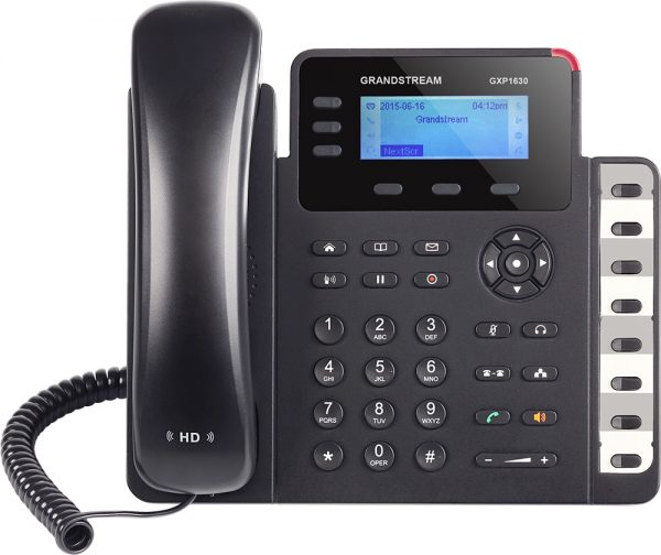 Grandstream, HD PoE IP Phone 132x64 LCD, 3 lines, Dual Gigabit Ports, 3 program keys, 8 BLF, EHS 1