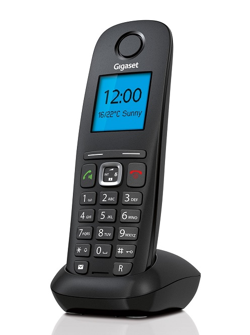 Gigaset A540 IP Cordless Phone – Mid level cordless handset. Bigger buttons and colour displays. 1