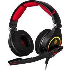 Thermaltake Tt eSPORTS by Thermaltake, HT-CRO-DIECBK-21, Cronos RGB 7.1 Gaming Headset, Ultimate 7.1 Premium Virtual Surround Sound Performance, LYCRA HEADBAND 1