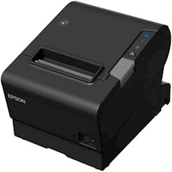Epson TM-T88VI-241 Thermal Receipt Printer Built-in Ethernet, USB, Serial, with PSU, no data or Power cables, Black Colour 1