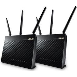 Asus AC1900 Wireless Dual Band Mesh Router, GbE (4), USB 3.0(1), USB 2.0(1), ANT (3), 2PK, 3yr Wty 1