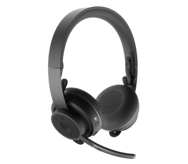 Logitech Zone Wireless Headset + Wireless Qi Charging Base 1