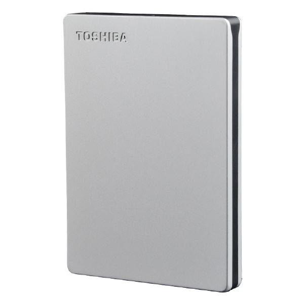 "Toshiba Canvio Slim III 1TB External HDD 2.5"" USB Powered, Aluminium Finish Silver Metallic / 3 Years 1"