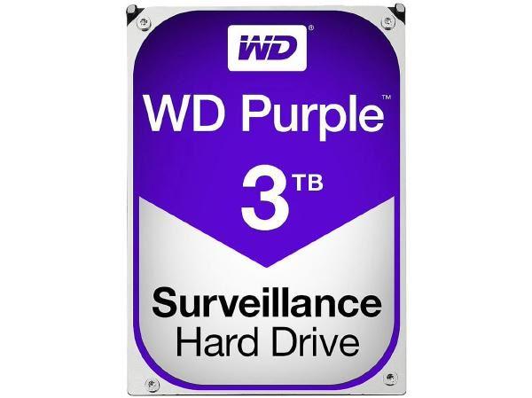 "WD HDD 3.5"" Internal SATA 3TB Purple, Variable RPM, 3 Year Warranty - WD30PURZ 1"