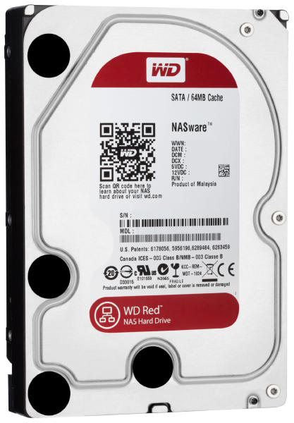 "WD HDD 3.5"" Internal SATA 4TB Red, Variable RPM, 3 Year Warranty - WD40EFAX 1"