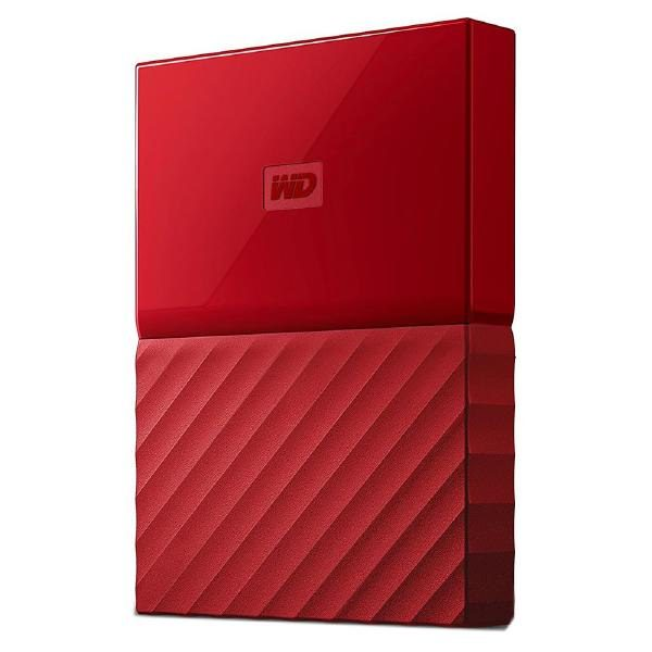 WD My Passport 2TB USB 3.0 Portable Hard Drive - Red WDBYFT0020BRD 1