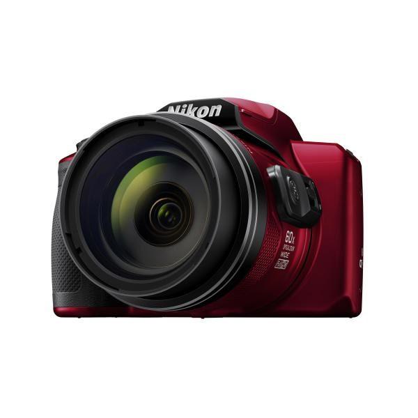 Nikon Digital Compact Camera COOLPIX B600, Red , 16MP, 60x Optical Zoom, Fixed Lens Mini HDMI 1