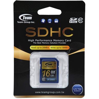 Team Group Memory Card SDHC 16GB, Class 10, 16MB/s Write*, Lifetime Warranty 1