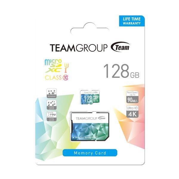 TEAM Colour Card II Micro SDHC UHS-1 U3 128G 90/45 R/W 1