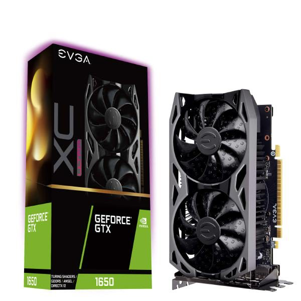 EVGA GeForce GTX 1650 XC ULTRA, OVERCLOCKED, 2.75 Slot Extreme Cool Dual, 60C Gaming, 04G-P4-1157-KR, 4GB GDDR5 1