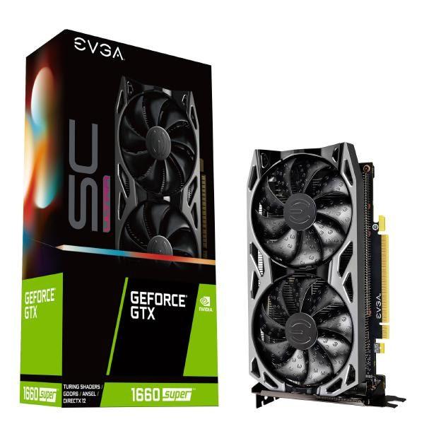 EVGA GeForce GTX 1660 SUPER SC ULTRA GAMING, 06G-P4-1068-KR, 6GB GDDR6, Dual Fan, Metal Backplate 1