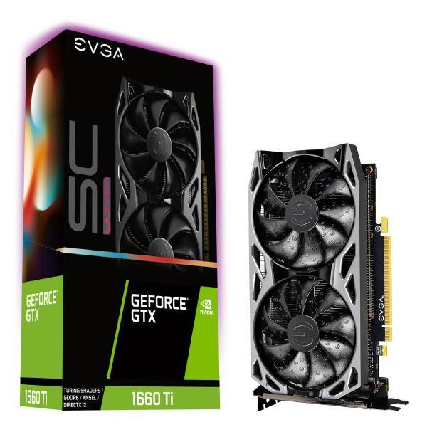 EVGA GeForce GTX 1660 Ti SC ULTRA GAMING, 06G-P4-1667-KR, 6GB GDDR6, Dual Fan, Metal Backplate 1