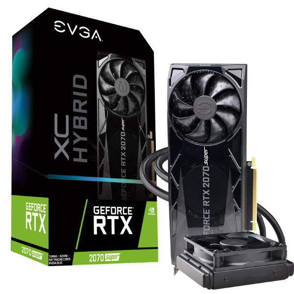 EVGA GeForce RTX 2070 SUPER XC HYBRID GAMING, 08G-P4-3178-KR, 8GB GDDR6, WATERCOOLED 1