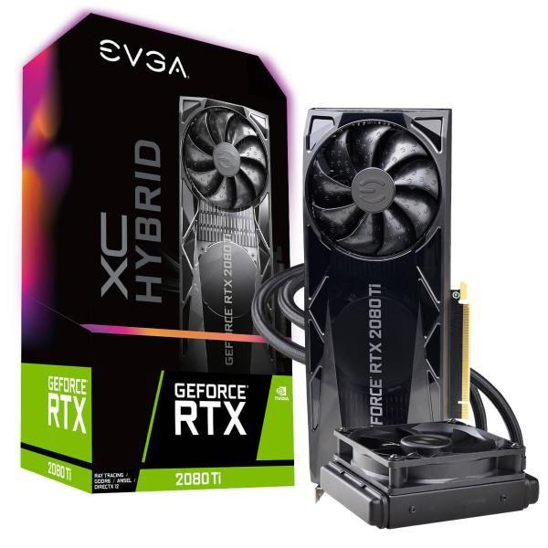 EVGA GeForce RTX 2080 Ti XC HYBRID GAMING, 11G-P4-2384-KR, 11GB GDDR6, HYBRID, RGB LED Logo, Metal Backplate 1