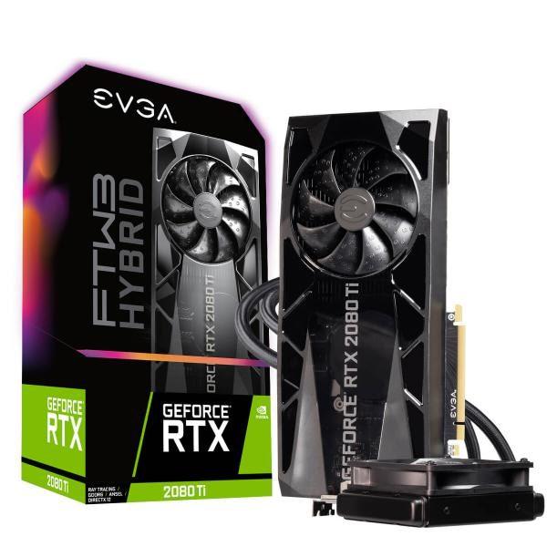 EVGA GeForce RTX 2080 TI FTW3 ULTRA HYBRID GAMING, 11G-P4-2484-KR, 11GB GDDR6, RGB LED Logo, iCX2 Technology, Metal Backplate 1