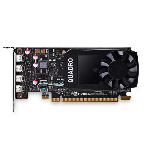 Leadtek Quadro P1000 Work Station Graphics Card PCIE 4GB DDR5, 4H(mDP), Single Slot, 1x Fan 1