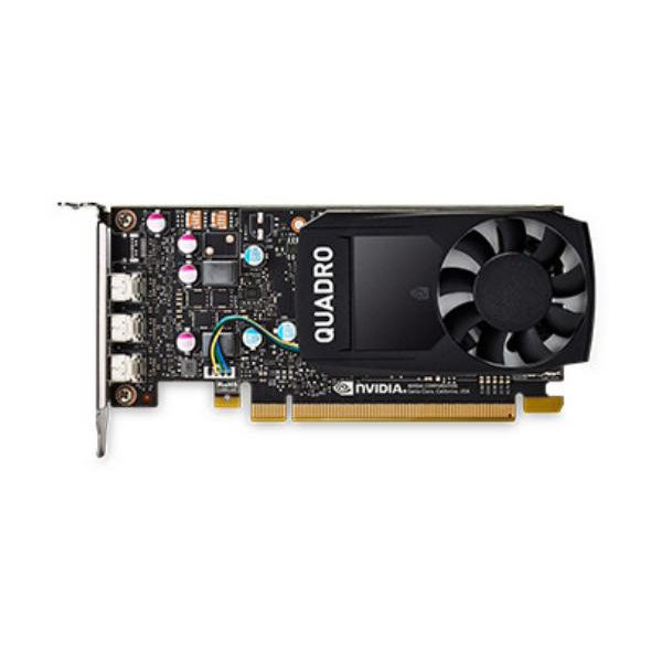 Leadtek Quadro P400 Work Station Graphic Card PCIE 2GB DDR5, 3H (mDP), Single Slot, 1xFan, ATX, Low Profile 1