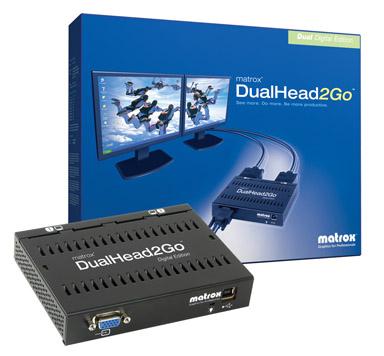 Matrox DualHead2Go Digital Edition External Multi-Display Adapter 1