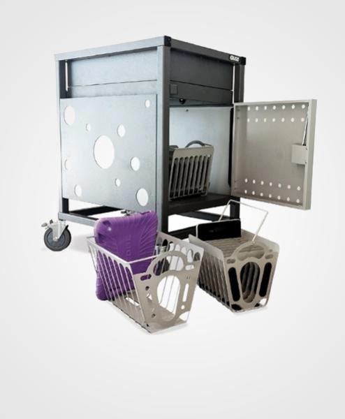 Gilkon Tablet Basket Kit / 2 Baskets / Mounting Brackets / Fixings / *** Compatible with 30 Bay PC Vault Trolley (2LCMT-30)*** 1