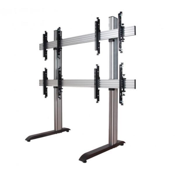 Atdec 2x2 freestanding video wall. Max load per display: 50kg Universal VESA 1