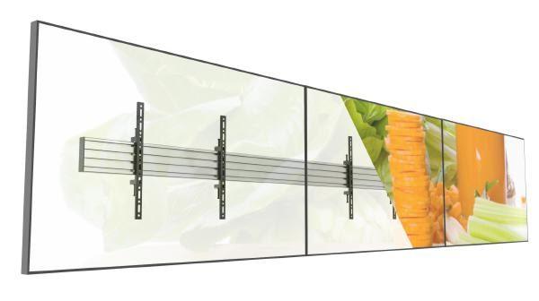 "Atdec 3x1 wall-mount menu board for three 55""-65"" displays 1"