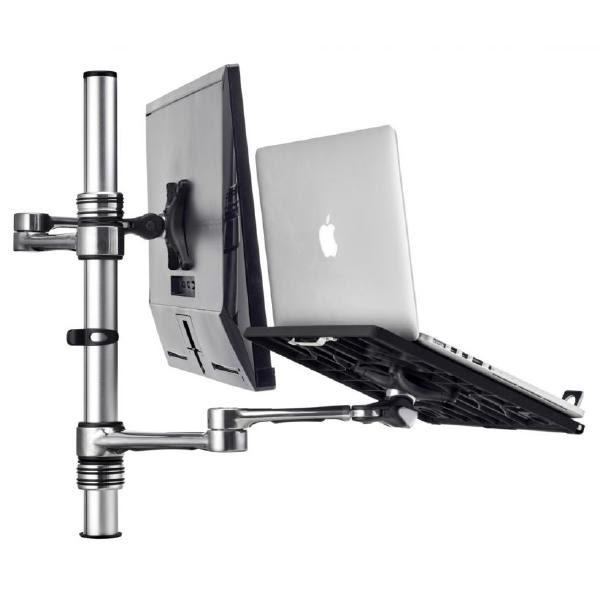 Atdec Notebook monitor arm combo mount - Silver 1