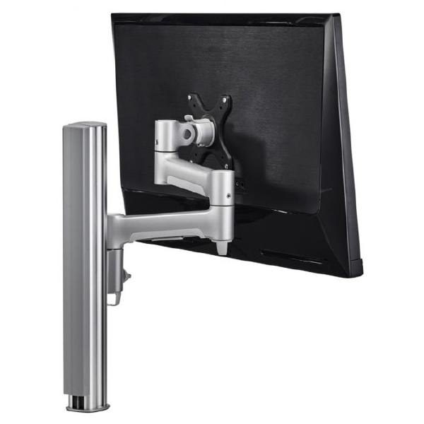 Atdec AWM Single monitor arm solution - 460mm articulating arm - 400mm post - bolt - white 1