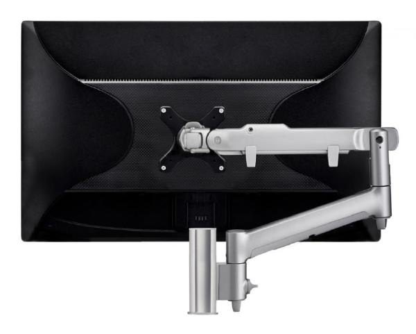 Atdec AWM Single monitor arm solution - dynamic arm - 135mm post - F Clamp - silver 1