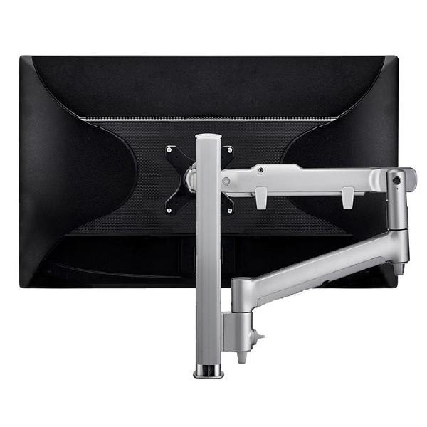 Atdec AWM Single monitor arm solution - dynamic arm - 400mm post - F Clamp - silver 1