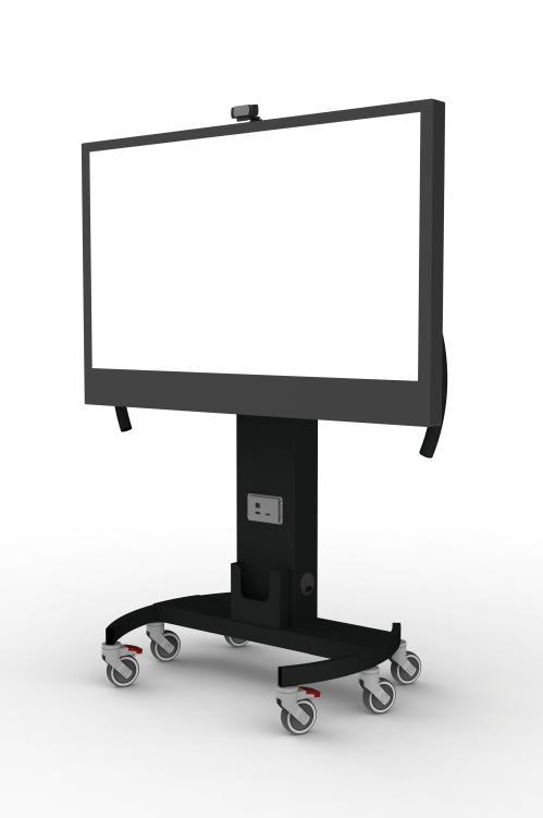 Gilkon NVS 1 Mobile Trolley- Manual Screen Height Adjustment w/ MOCOW Kit - VESA 600 x 400, Max 60kgs 1
