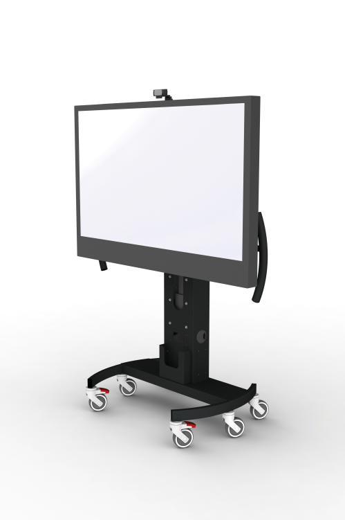 Gilkon NVS 2 Mobile Trolley- Electric Height Adjustment w/ MOCOW Kit - VESA 600 x 400, Max 60kgs 1