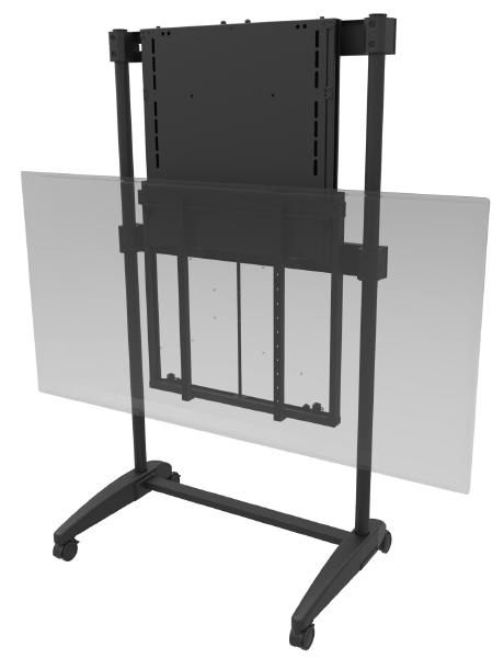 EasiLift Dynamic Height Adjustable Portable TV Stand ideal for Interactive Display Panels - 60-90kg's 1