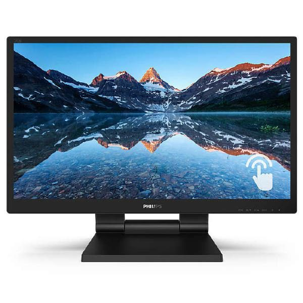 """Philips 24"""" LCD, 16:9, Full HD with SmoothTouch (1920 x 1080), Water & dust resistance, 4 Yr Wty, VGA, DVI-D,DP,HDMI,VESA,USB 3.1x2, Built in speakers 1"""