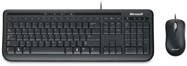 Microsoft Wired Desktop 600 Keyboard & Mouse Combo, USB, Black, Retail 1