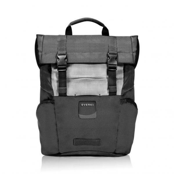 """Everki ContemPRO Roll Top Laptop Backpack, up to 15.6"""" - Black (EKP161) with Dedicated Tablet/iPad/Pro/Kindle compartment up to 13"""" 1"""
