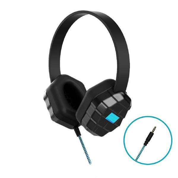 Gumdrop DropTech B1 Rugged Headphones - Compatible with all devices with a 3.5mm headphone jack (Bulk packaged in Poly bag - No Retail packaging) 1
