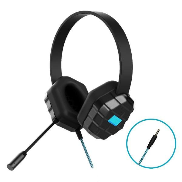 Gumdrop DropTech B1 Rugged Headset with Microphone - Compatible with all devices with a 3.5mm headphone jack (Bulk packaged in Poly bag) 1
