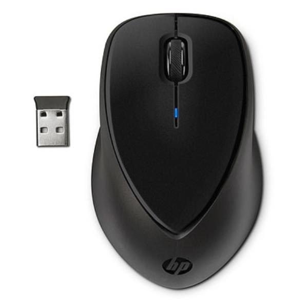 HP Wireless Mouse Comfort Grip, 3 Button, Optical, Nano USB Receiver, Scroll Wheel, Colour: Black, 2.4GHz (Powered by 2xAA, included) 1