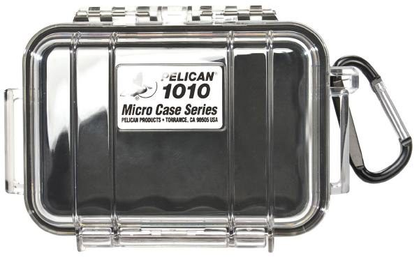 Pelican 1010 Micro Case - Clear with Black 1