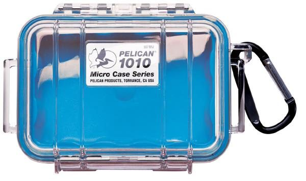 Pelican 1010 Micro Case - Clear with Blue 1