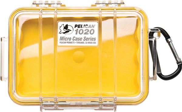 Pelican 1020 Micro Case - Clear with Yellow 1