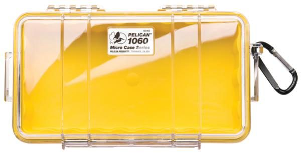 Pelican 1060 Micro Case - Clear with Yellow 1