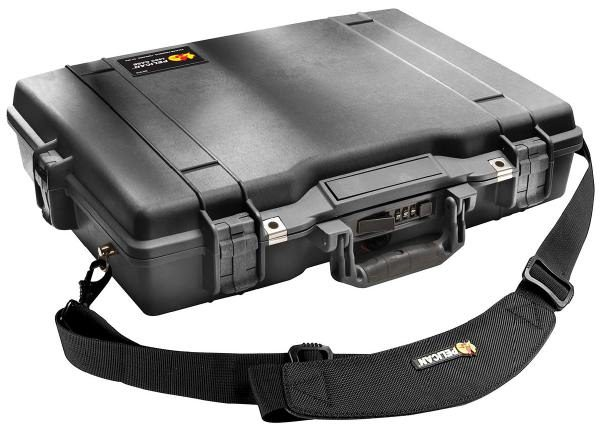 """Pelican 1495 Laptop Case with Foam Black. Fits up to 17"""" laptops 1"""