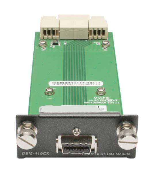 D-LINK DEM-410CX 1-Port 10-Gigabit CX4 Module for DGS-3400/DGS-3600/DWS-4026 1