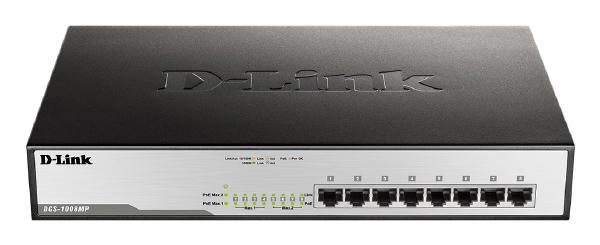 D-LINK DGS-1008MP 8-Port Gigabit PoE Unmanaged Switch with 140W PoE Budget 1