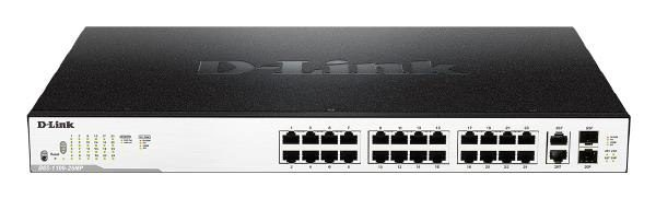 D-LINK DGS-1100-26MP 26-Port Surveillance Switch with 24 PoE and 2 Combo UTP/SFP ports (370W PoE budget) 1