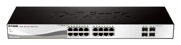 D-LINK DGS-1210-20 20-Port Gigabit WebSmart Switch with 16 UTP and 4 SFP Ports 1