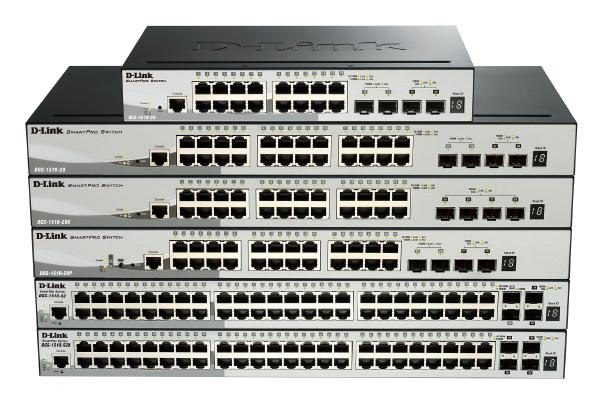 D-LINK DGS-1510-52X 52-Port Gigabit SmartPro Switch with 48 UTP and 4 SFP+ 10G Ports 1