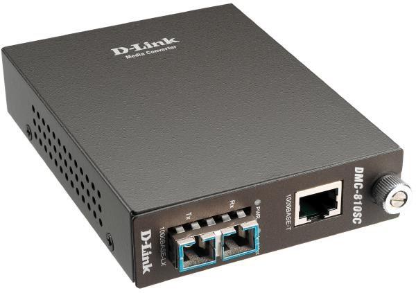 D-LINK DMC-810SC 1000BaseT to 1000BaseLX Media Converter with SC fibre Connector (Single Mode 1300nm 1