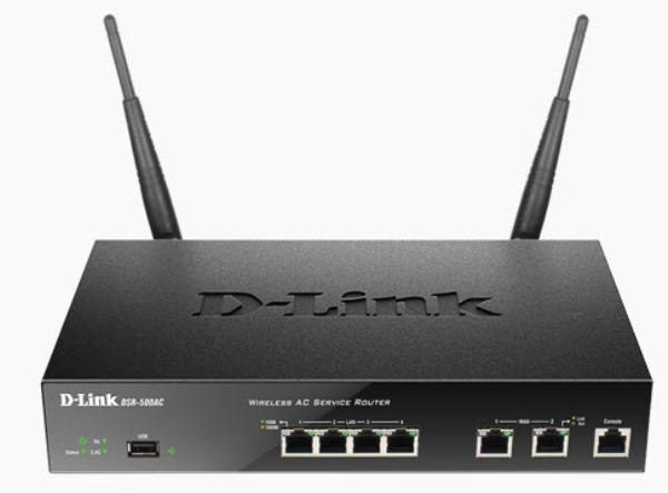 D-LINK DSR-500AC Unified Wireless AC Services Router with 4 LAN and 2 WAN Gigabit Interfaces (1 USB 2.0 Port) 1